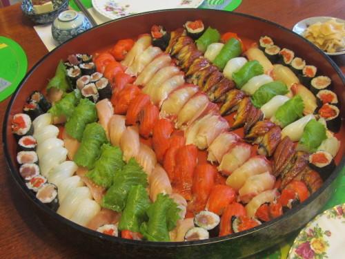 今日の生徒飯 寿司少々_a0173527_11132801.jpg