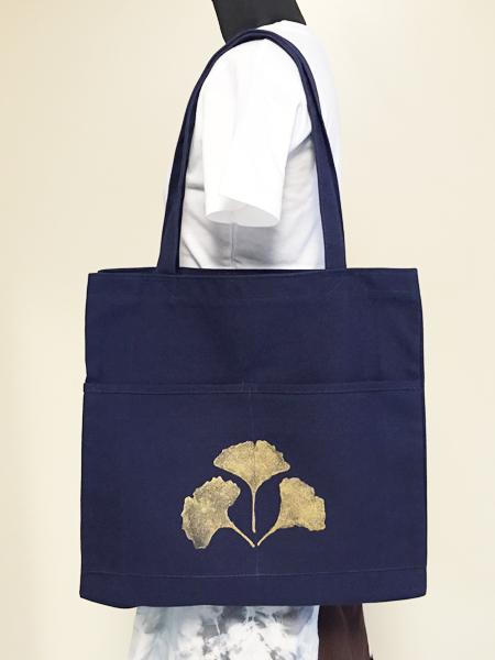 イチョウ柄のバッグ ポケット付 (1748)_e0104046_20262397.jpg