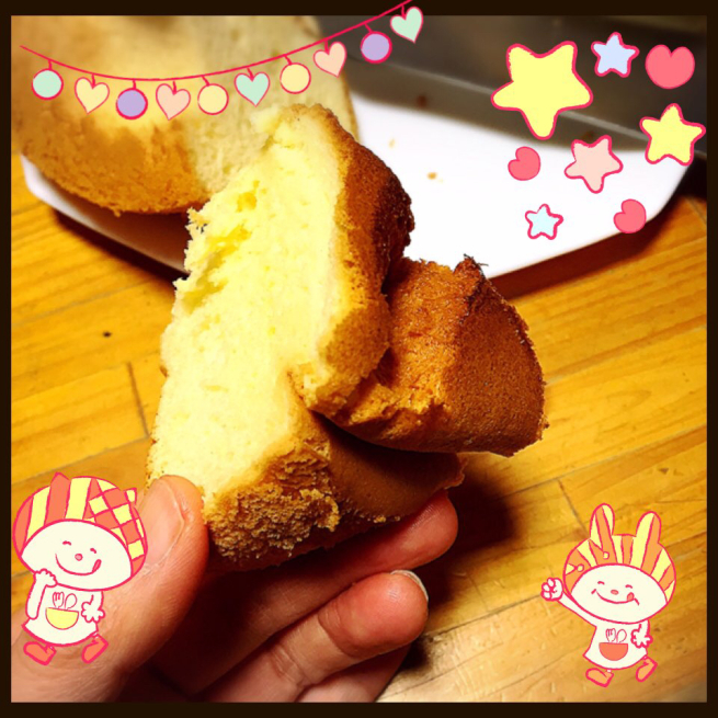 初めてのシフォンケーキ作り☆_f0183846_15020853.jpg