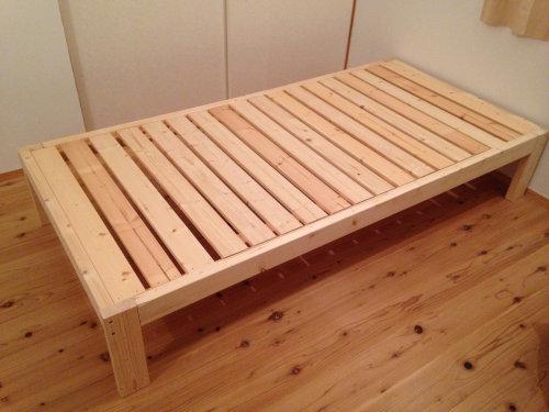 木製ベットを手軽にDIY_b0349892_20013636.jpg