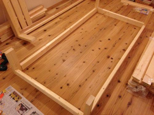 木製ベットを手軽にDIY_b0349892_20014256.jpg