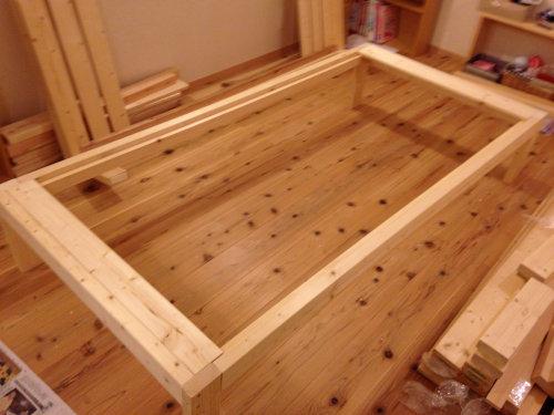 木製ベットを手軽にDIY_b0349892_20014590.jpg