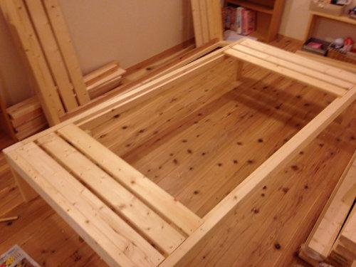 木製ベットを手軽にDIY_b0349892_20014817.jpg