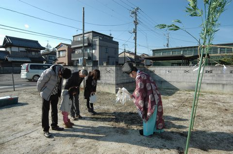 石岡の家の地鎮祭がございました。_a0059217_126017.jpg