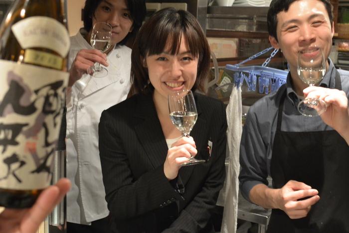 初雪が降ったので乾杯!!たまには皆と日本酒で・・・。&1月19日(火)のランチメニュー_d0243849_23551811.jpg