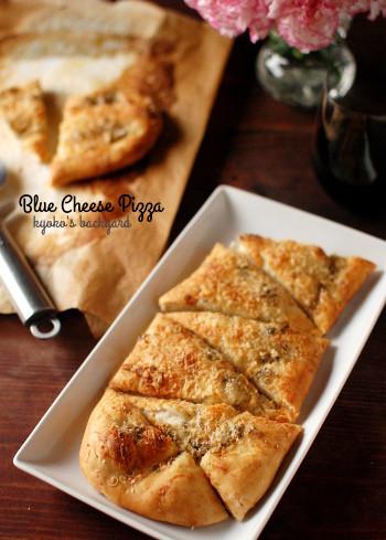 ブルーチーズのピザ、はちみつ添え_b0253205_02252140.jpg