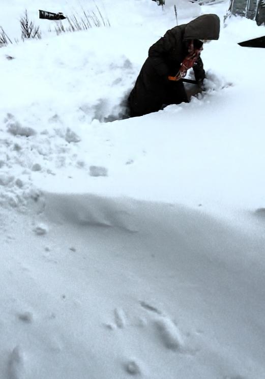 あんかけ焼きそばと、除雪を終えて。_e0347725_17203417.jpg