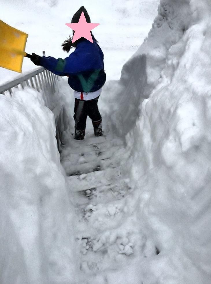 あんかけ焼きそばと、除雪を終えて。_e0347725_17210299.jpg
