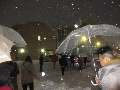 """吹雪の中""""台湾""""の御客様(23名)_f0289632_21494839.jpg"""