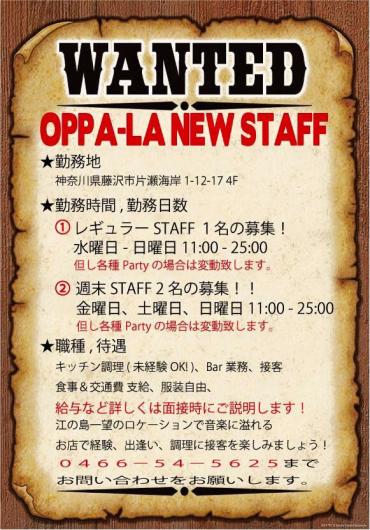 江の島CurryDinner オッパーラでは新しくスタッフを3名募集しています‼️❗️_d0106911_12584659.jpg