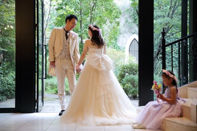 新郎新婦様からのメール 結婚式で手作りの花かんむり&ご両親へ贈る花 サンタキアラ教会の花嫁様_a0042928_1755982.jpg