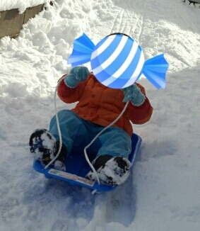 雪遊び。_f0098671_17203609.jpg