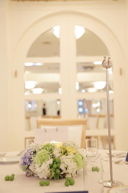 夏の装花 恵比寿イーストギャラリー様の結婚式へ ブーケのカスミソウをおそろいで_a0042928_15305637.jpg