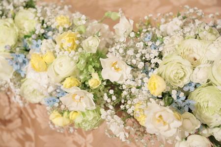 夏の装花 恵比寿イーストギャラリー様の結婚式へ ブーケのカスミソウをおそろいで_a0042928_15322322.jpg
