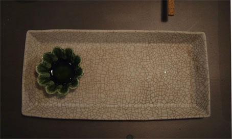 クロノユキコさんの貫入角皿_b0322280_16224922.jpg