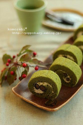 うずまきパン&お抹茶と黒豆のロールケーキ_a0134594_9153366.jpg