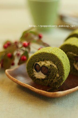 うずまきパン&お抹茶と黒豆のロールケーキ_a0134594_9155127.jpg
