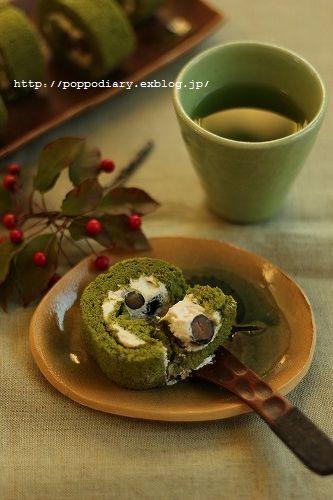 うずまきパン&お抹茶と黒豆のロールケーキ_a0134594_9161458.jpg