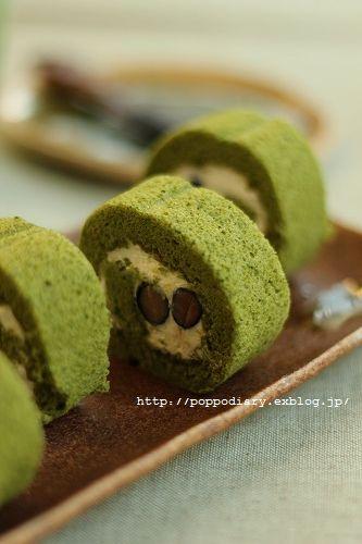 うずまきパン&お抹茶と黒豆のロールケーキ_a0134594_91628.jpg