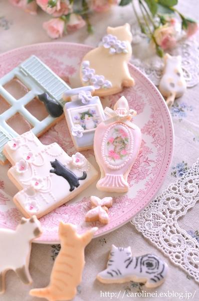 猫アイシングクッキー  Homemade Cat\'s Icyng Cookies_d0025294_19201616.jpg