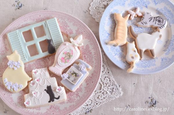 猫アイシングクッキー  Homemade Cat\'s Icyng Cookies_d0025294_19202470.jpg