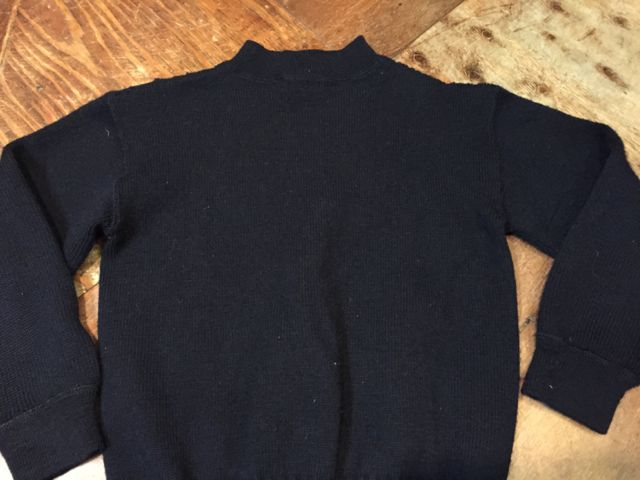 1月23日(土)入荷商品!   50\'s U.S NAVY  Hi neck  Sweater!_c0144020_1557745.jpg