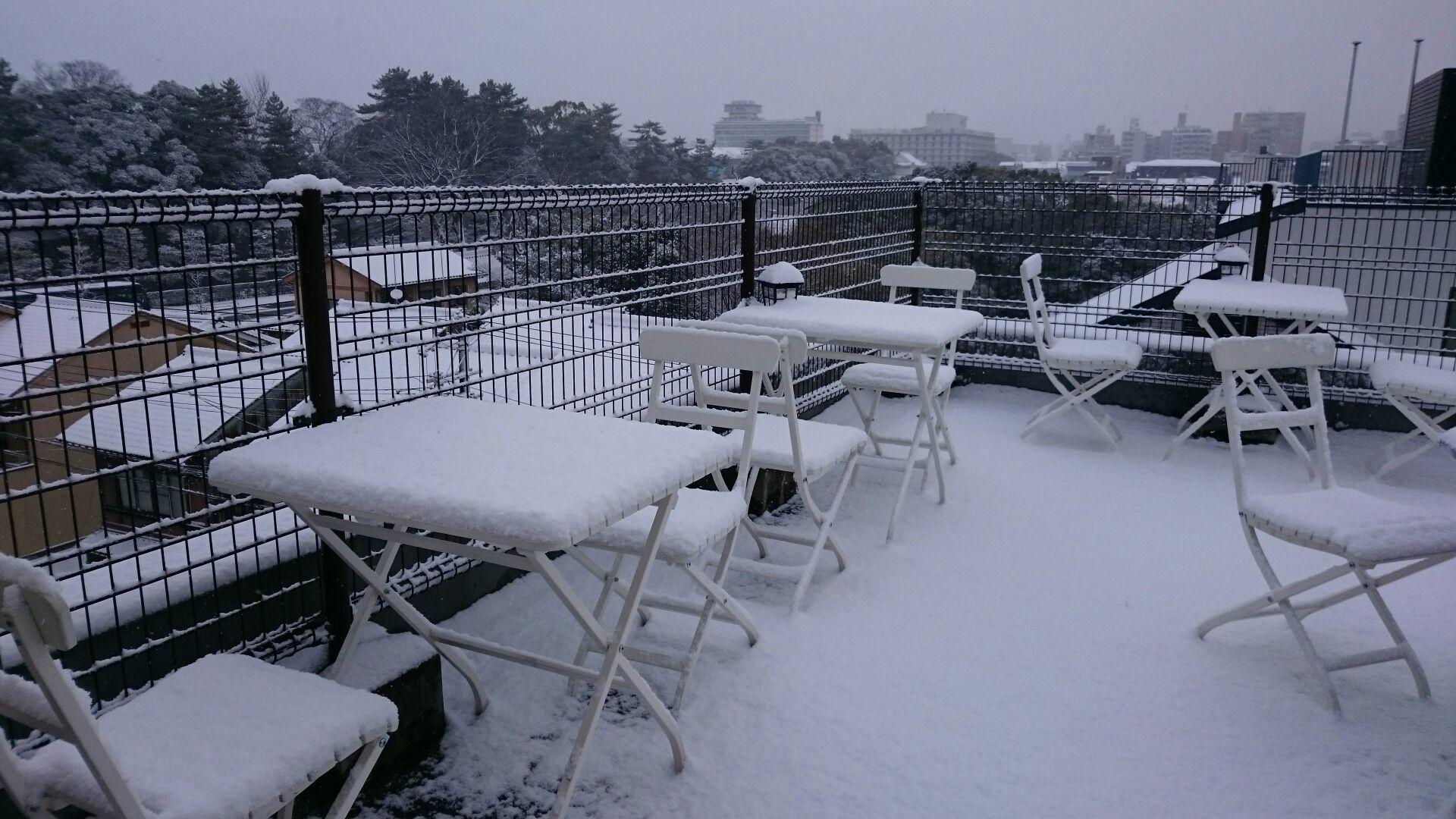 京都に初雪!屋上も真っ白!_f0354437_10043725.jpg