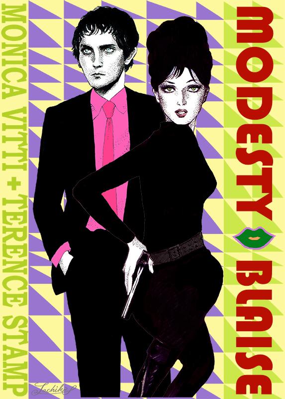映画「唇からナイフ Modesty Blaise」 < イラストレーション66 >_f0228652_1615159.jpg