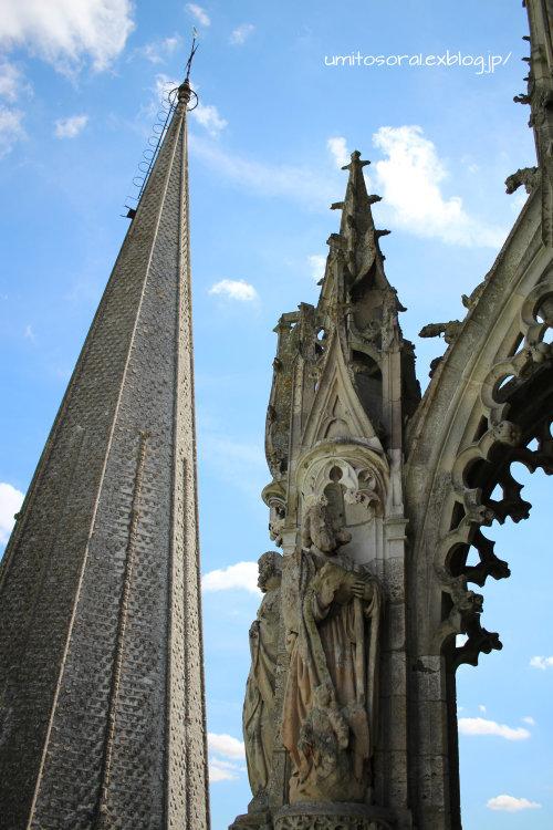シャルトル大聖堂から眺める @フランス_b0324291_09323597.jpg