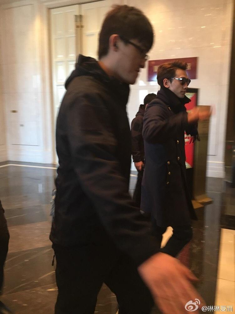 瀋陽のホテルを出るRain_c0047605_18422012.jpg