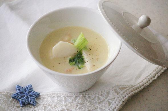 小かぶとベーコンの豆乳カレースープ_d0327373_9231658.jpg