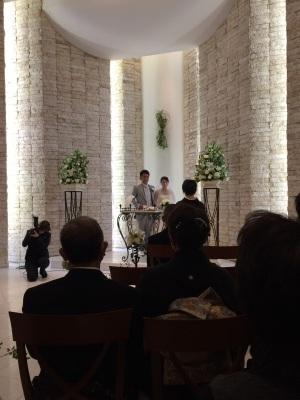 私的ブログ…お客様の結婚式出席( ̄^ ̄)ゞ_d0132688_17100590.jpg