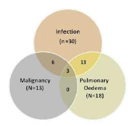 血球貪食症候群の肺病変は半数にみられ、予後不良である_e0156318_1162410.jpg