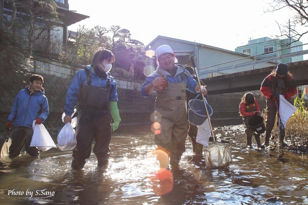 冬の侍従川掃除&調査(2016年1月)_b0348205_19361292.jpg