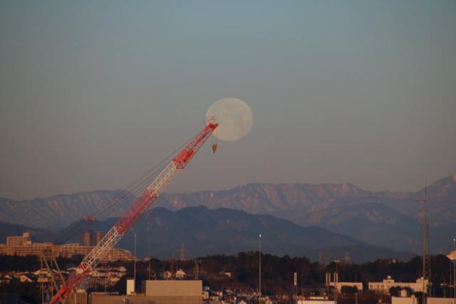 今朝の惜しい月。_f0348831_22120035.jpg