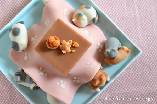猫こたつの練りきり   Homemade Cat\'s Nerikiri-Kotatsu(Japanese traditional leg heater)_d0025294_15313828.jpg