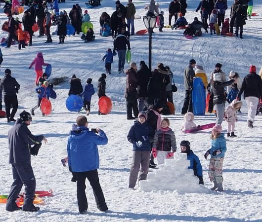 セントラルパークで雪ソリ遊びするならココ、Cedar Hill_b0007805_222738100.jpg