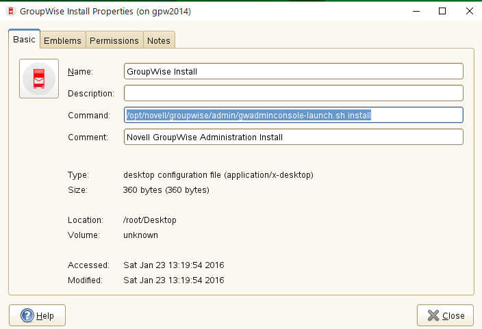 GroupWise 2014 R2 の SUSE Linux へのインストール_a0056607_14503681.jpg
