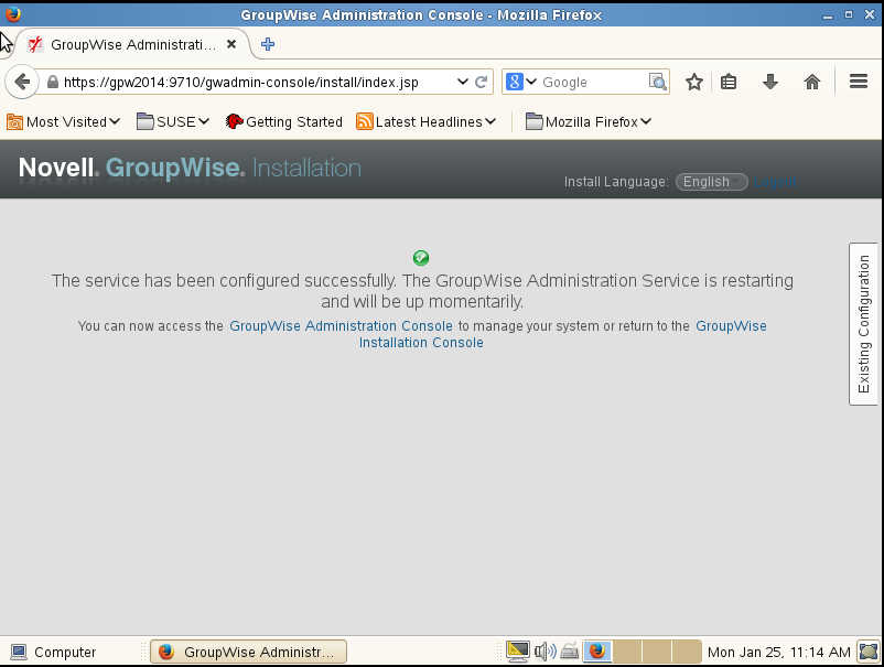 GroupWise 2014 R2 の SUSE Linux へのインストール_a0056607_14514947.jpg