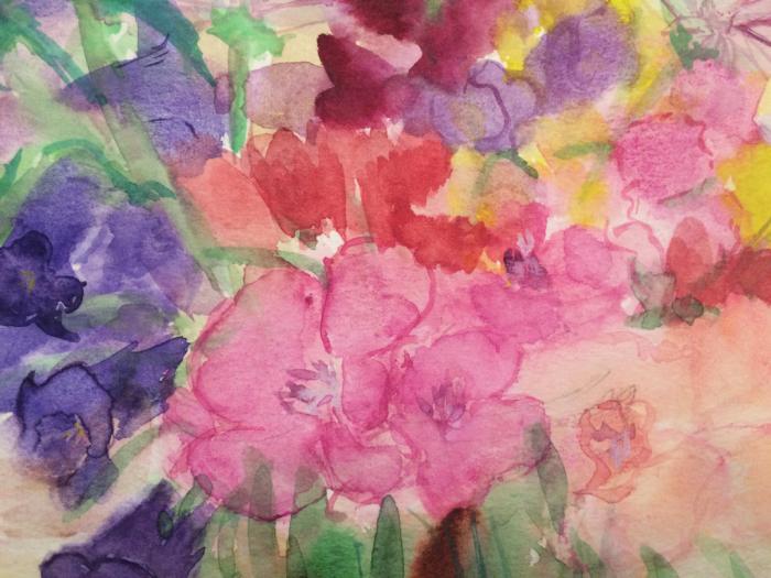 チェリーの庭の花(水彩画)_e0233674_14264626.jpg