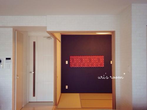 ユンバリのファブリックパネルと、お気に入りポスターも飾りましたヽ(´▽`)/_a0341288_17265296.jpg