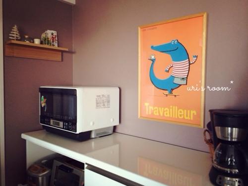 ユンバリのファブリックパネルと、お気に入りポスターも飾りましたヽ(´▽`)/_a0341288_17265417.jpg