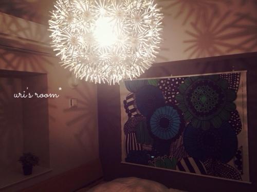 マリメッコのタペストリーを寝室に飾りました!_a0341288_17265558.jpg