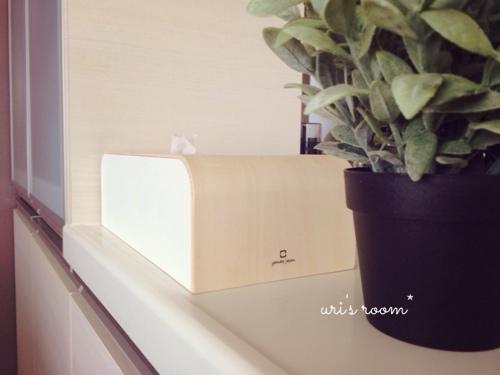キッチンカウンター。お気に入りのティッシュボックスでごちゃごちゃ隠し。_a0341288_17265840.jpg
