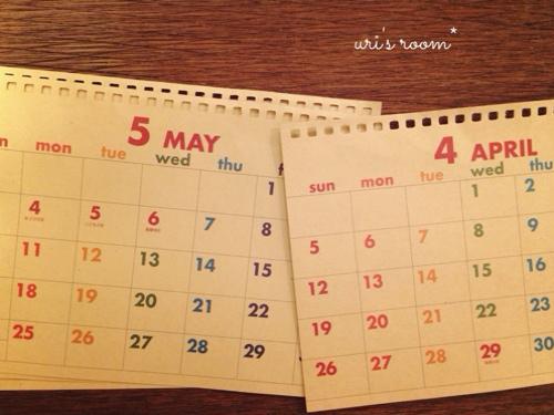 冷蔵庫に今年のカレンダー(100均)を貼りました!_a0341288_17270817.jpg