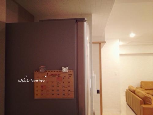 冷蔵庫に今年のカレンダー(100均)を貼りました!_a0341288_17270862.jpg