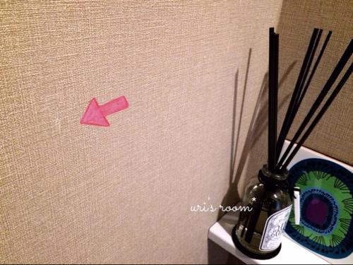 入居2ヶ月足らずで壁紙が傷ついた件(´Д⊂グスン_a0341288_17271591.jpg