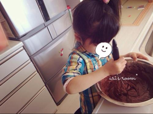 リビングにちょっと変化!と、幼稚園児でも作れるチョコマフィン。_a0341288_17272242.jpg