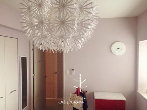 洋室に、IKEAの壁掛け時計を掛けてみました!_a0341288_17272728.jpg