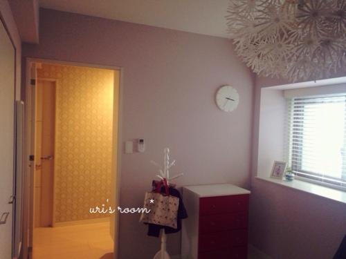 洋室に、IKEAの壁掛け時計を掛けてみました!_a0341288_17272758.jpg